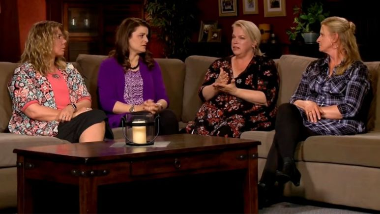 The cast of Sister Wives at a reunion