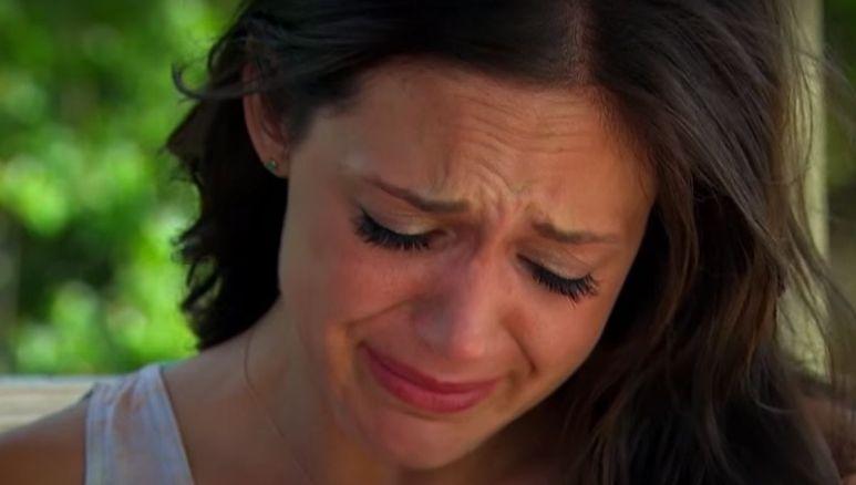 Desiree Hartsock in tears