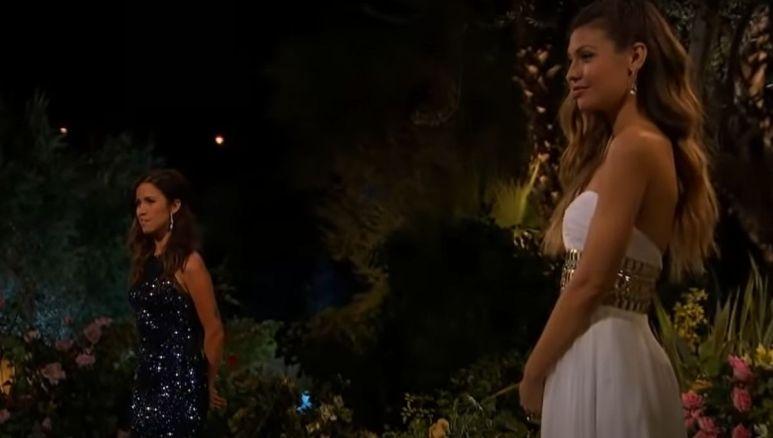 Britt Nillson and Kaitlyn Bristowe outside on night one