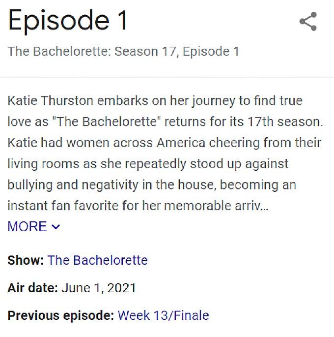 The next season of The Bachelorette starts June 1/