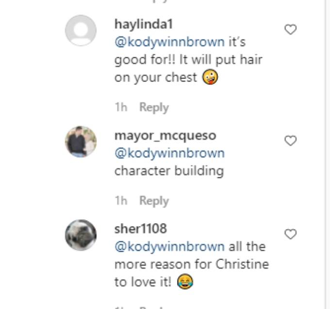 Kody and Christine Brown of Sister Wives on Instagram