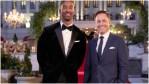 Matt James and Chris Harrison pose for the 25th season of The Bachelor.