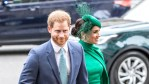 Harry and Meghan arrive at a royal event