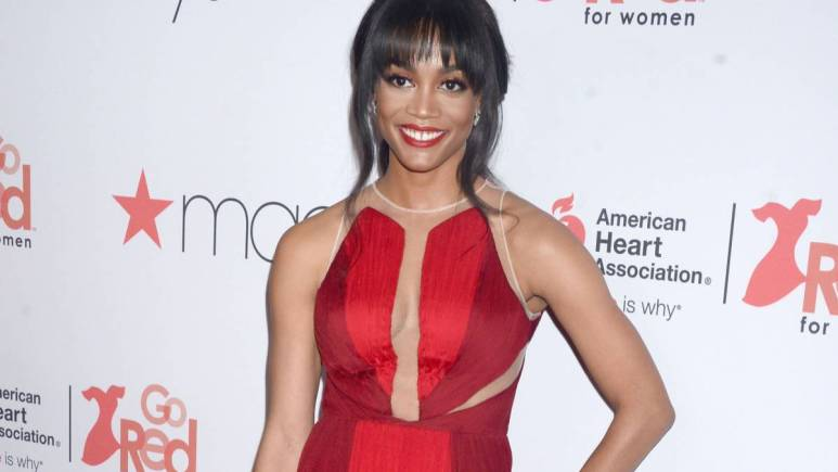 Rachel Lindsay poses on the red carpet