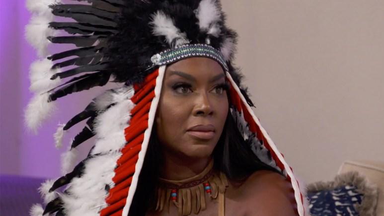 Kenya Moore approaching LaToya at last episode's Halloween party.