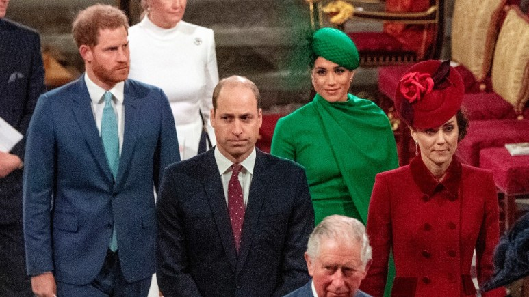 The Duke and Duchess' of Sussex and Cambridge attend a Royal event