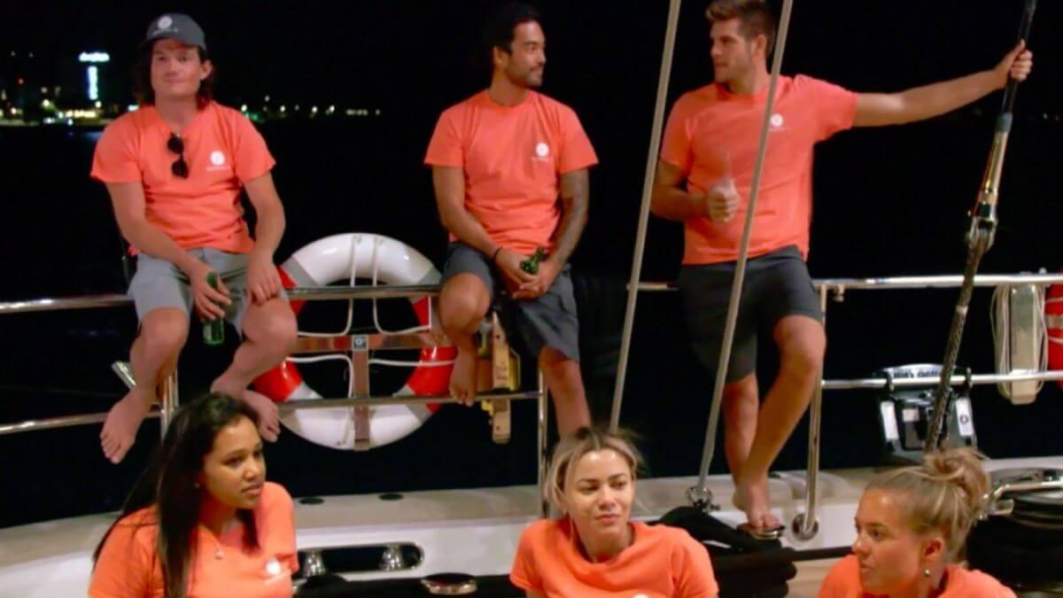 Below DEck Sailing Yacht producers dish crew tension.