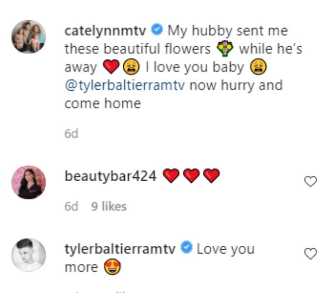 Catelynn and Tyler Baltierra of Teen Mom OG on Instagram