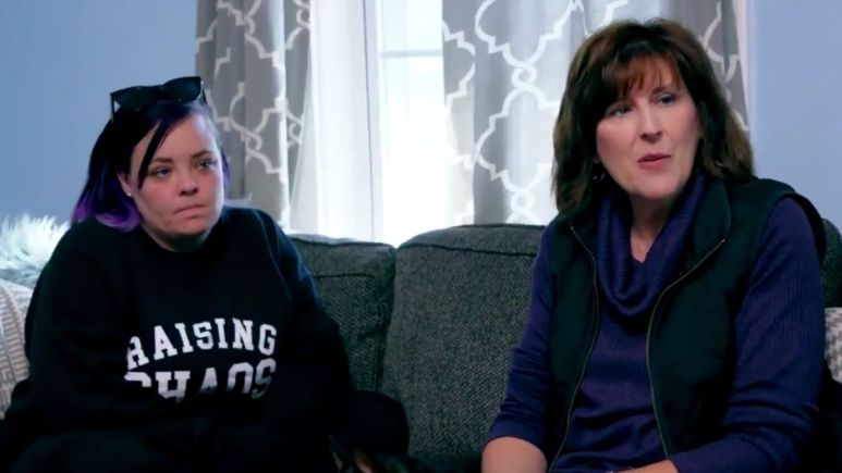 Catelynn and Tyler Baltierra of Teen Mom 2 with their adoption counselor Dawn