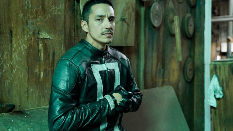 Gabriel Luna on the set of Agents of Field