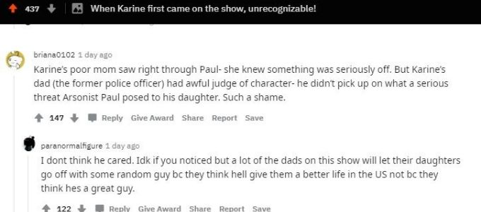 Reddit post about Karine from 90 Day Fiance