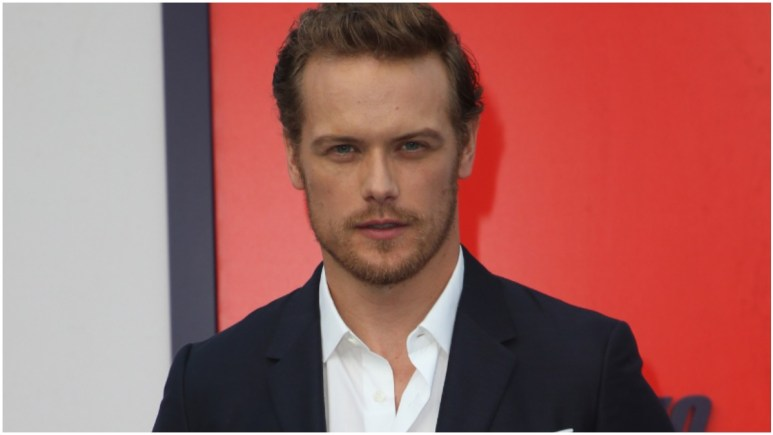 """Sam Heughan attends the premiere Of Lionsgate's """"The Spy Who Dumped Me"""" held at The Fox Village Theater"""