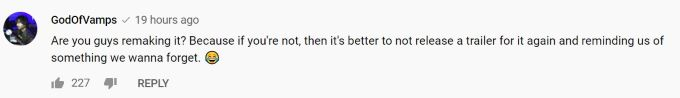 Comment Screenshot on GOT Season 8 trailer.