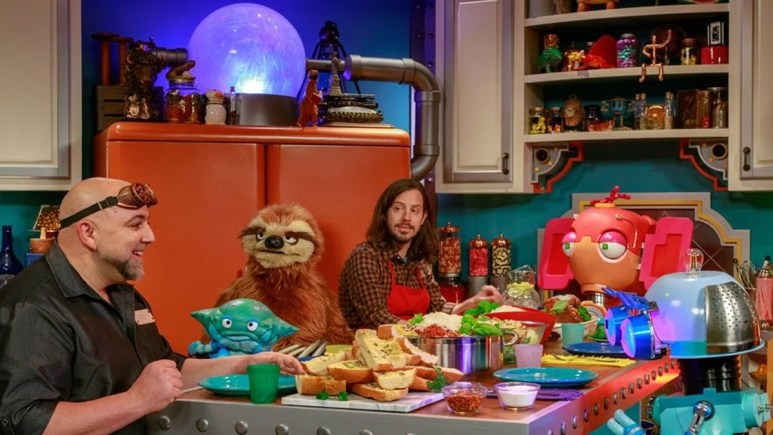 A scene from Duff's Happy Fun Bake Time