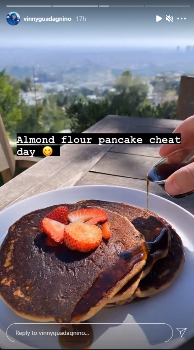 Vinny Guadagnino shares his pancakes