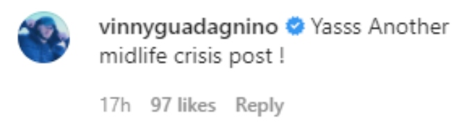 Vinny Guadagnino thinks Chris is experiencing a midlife crisis