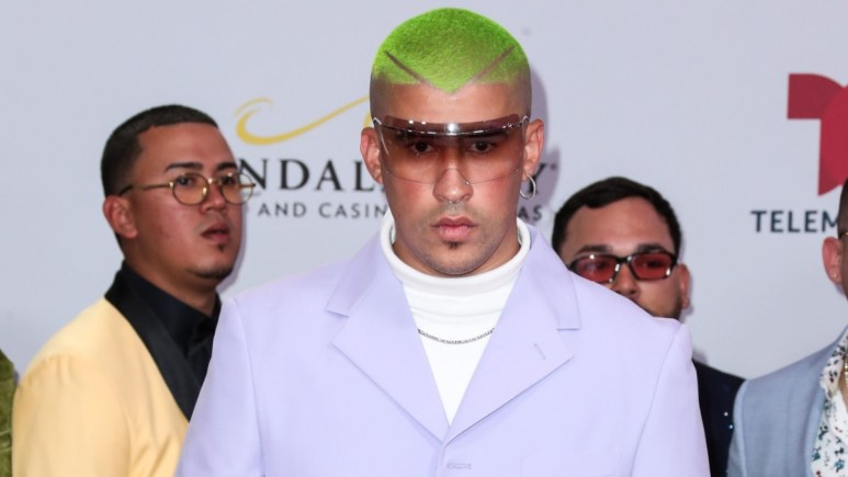 Bad Bunny on the red carpet