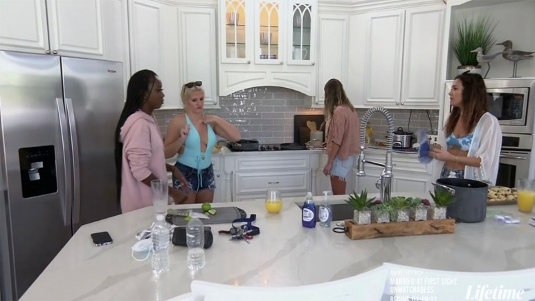 The MAFS wives in the kitchen