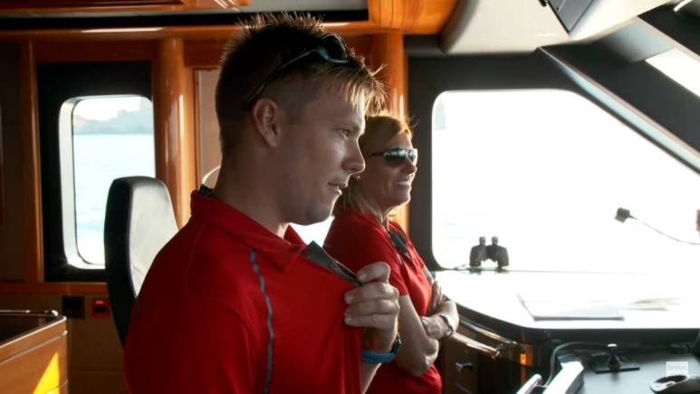 Joao and Captain Sandy film for Below Deck Med.