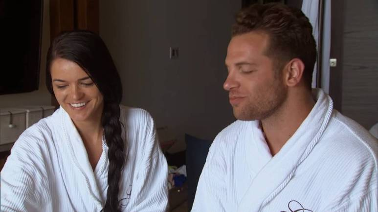 Adam and Raven film for Bachelor in Paradise.