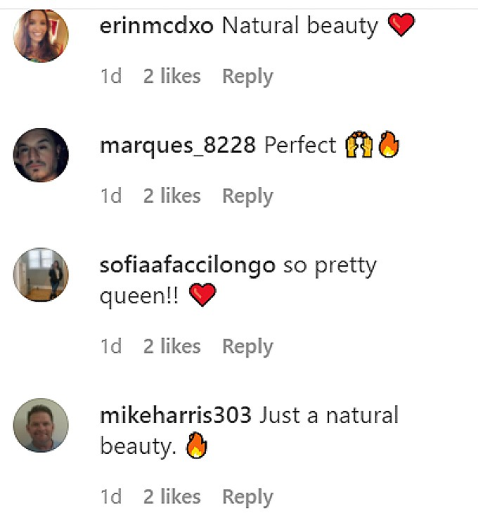 Sammi Giancola fans commented on her pic.