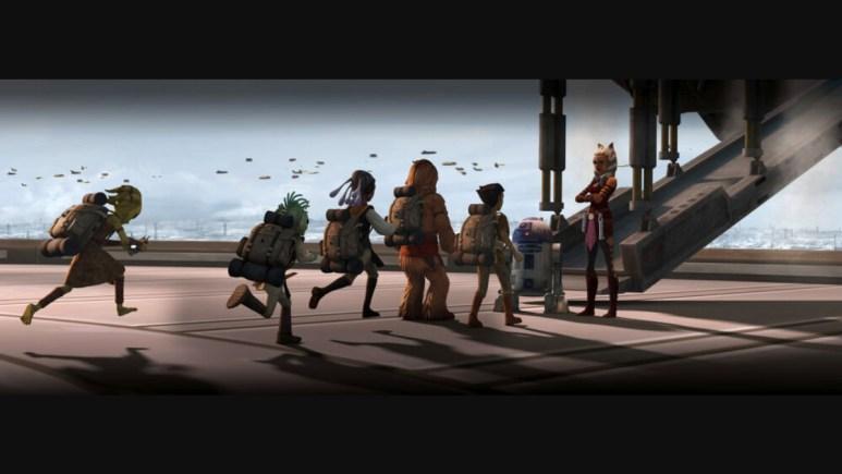 Ahsoka takes some younglings on a field trip