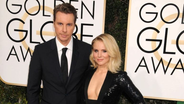 Dax Shepard and Kirsten Bell on the red carpet