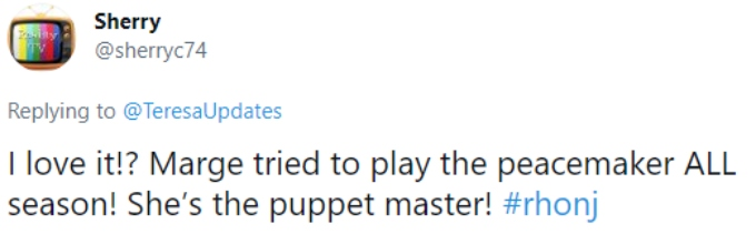 """A fan referred to Margaret as a """"puppet master"""""""