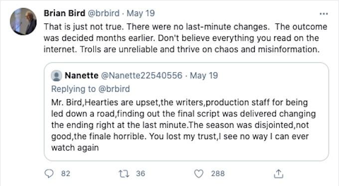Brian Bird Tweet