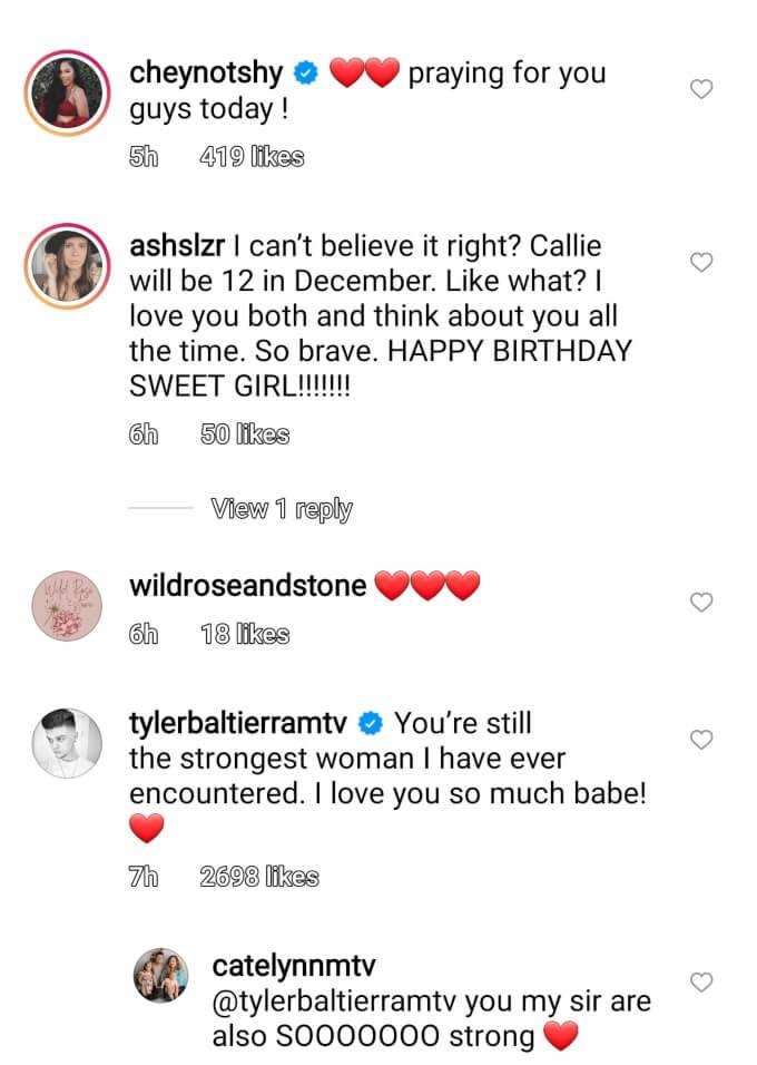 Catelynn and Tyler Baltierra and Cheyenne Floyd of Teen Mom OG on Instagram