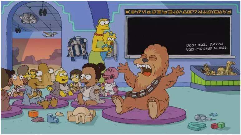 Simpsons still shot of Star Wars short
