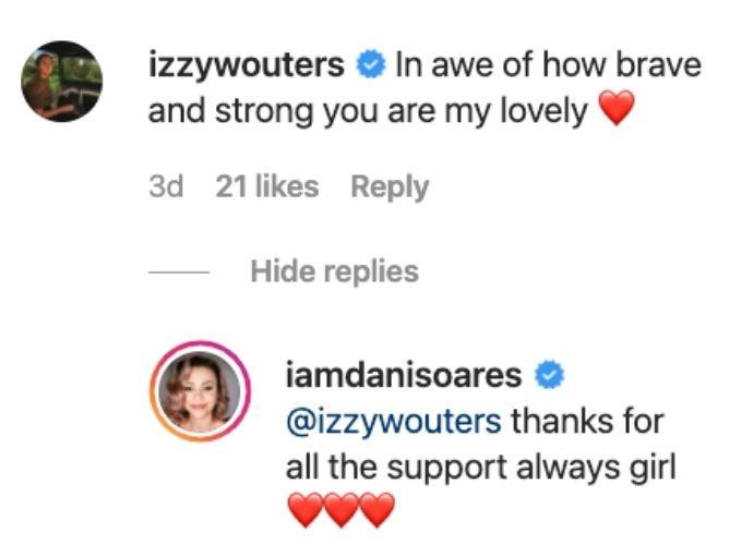 IZzy shows Dani love on Instagram