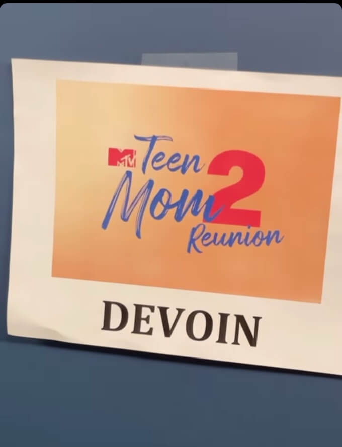 Kail shares photo of Devoin's name tag backstage at Teen Mom 2 reunion