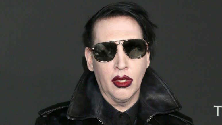 Marilyn Manson on the red carpet