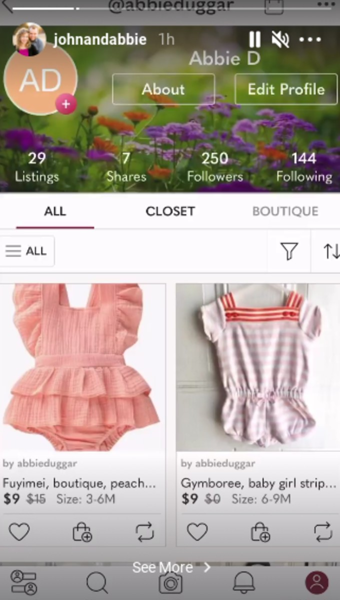 Some of Abbie's items are for sale.