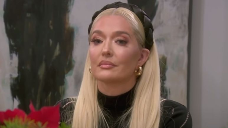 Erika Jayne in an emotional conversation about what she knew of Tom's business affairs during Season 11's teaser