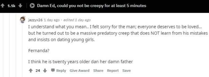Reddit users comment on Big Ed