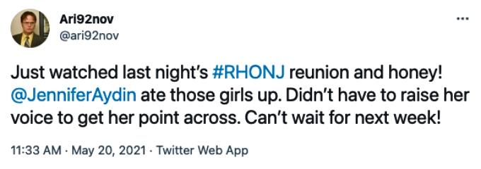 RHONJ fans STAN Jennifer Aydin