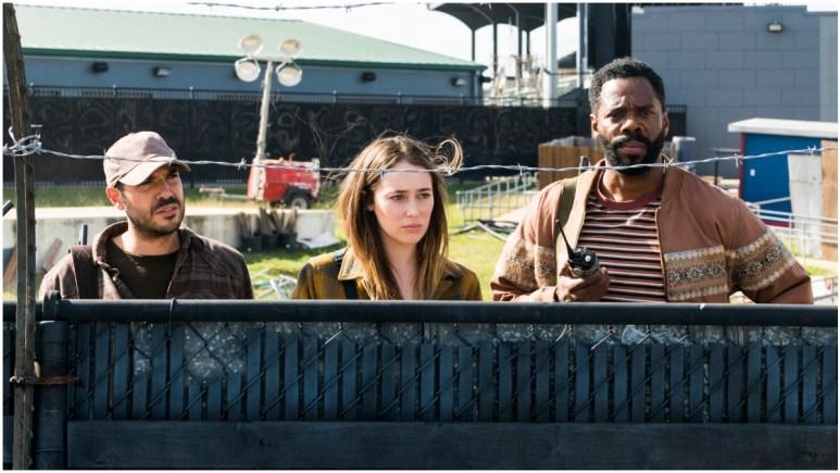 Sebastian Sozzi as Cole, Alycia Debnam-Carey as Alicia Clark, and Colman Domingo as Victor Strand, as seen in AMC's Fear the Walking Dead