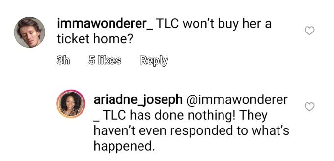 Actress Ariadne Joseph on Instagram