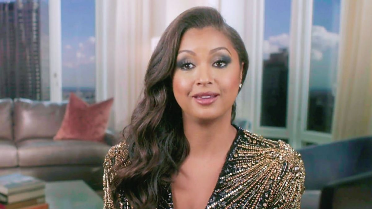 Eboni K. Williams looking gorgeous in her confessional look for Season 13 of RHONY.