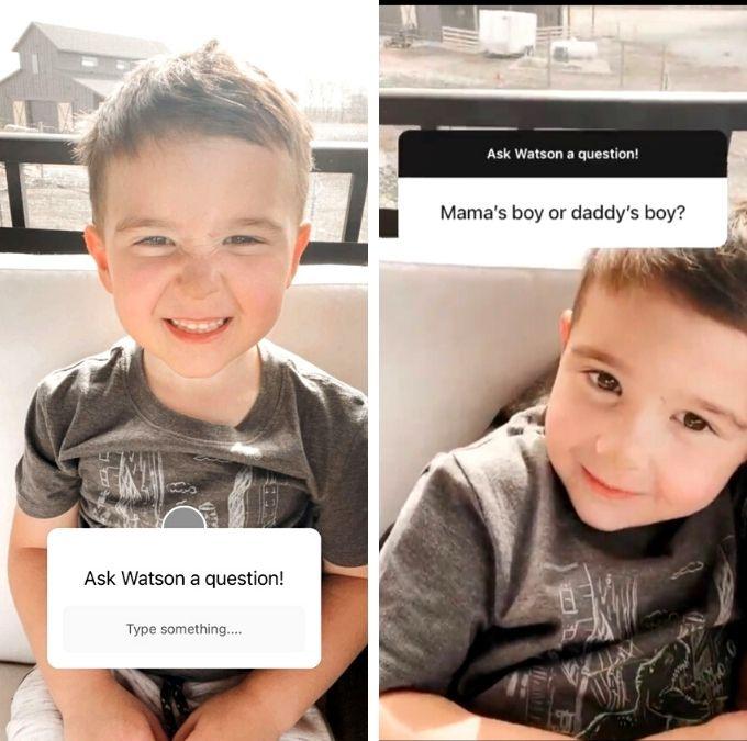 Chelsea Houska and son Watson DeBoer of Teen Mom 2 on Instagram
