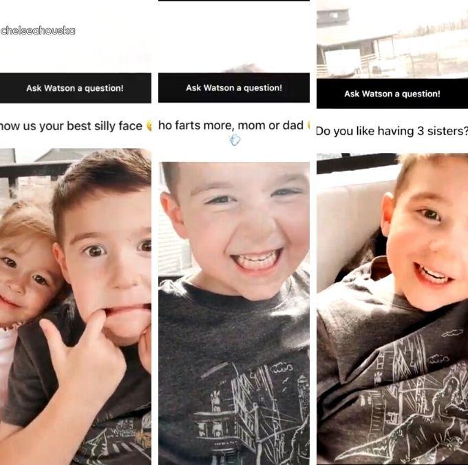 Watson and Layne DeBoer of Teen Mom 2 on Chelsea Houska's Instagram