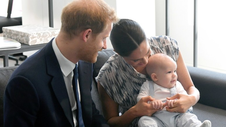 Archie with the Duke and Duchess of Sussex