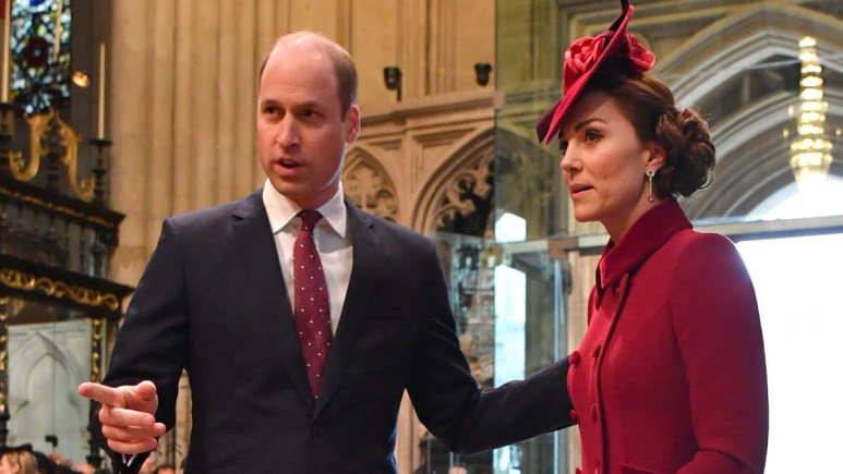William and Kate attend a royal function