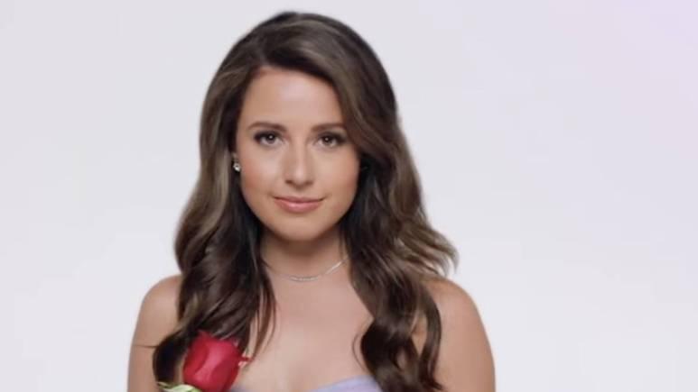 Katie Thurston films the Bachelorette promo