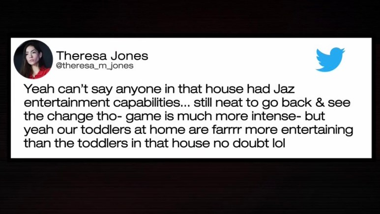theresa jones tweet about double agents castmates from reunion special