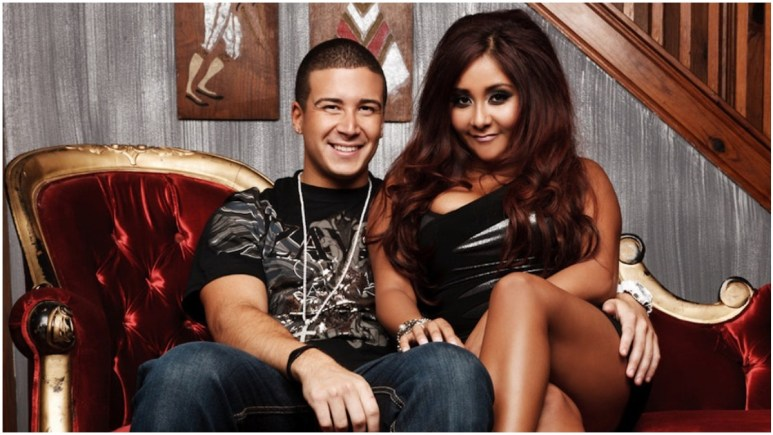 Vinny and Snooki on jersey shore
