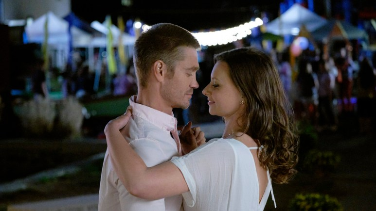 Chad Michael Murray and Aly Michalka share a dance