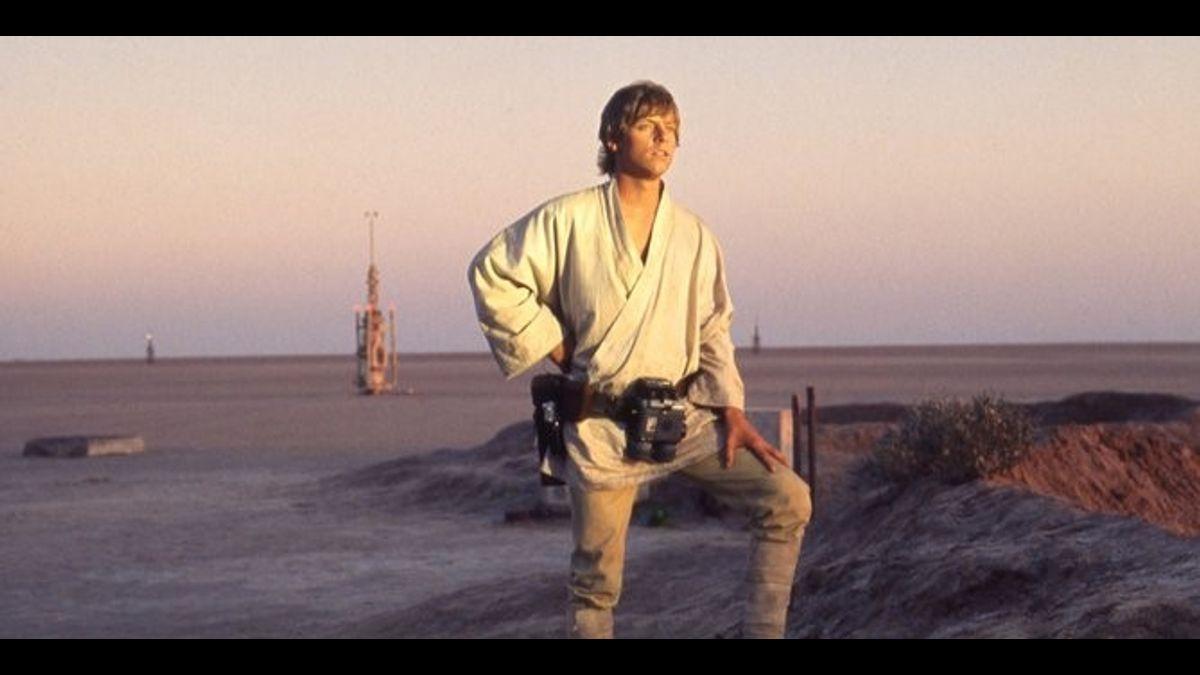 Luke Skywalker in desert